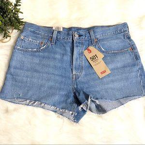 Levi's 501 Denim Shorts Size 30 Mid Rise